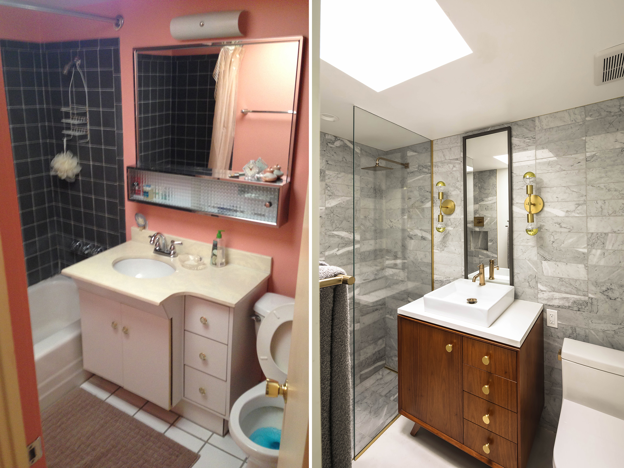 Bathroom Before + After